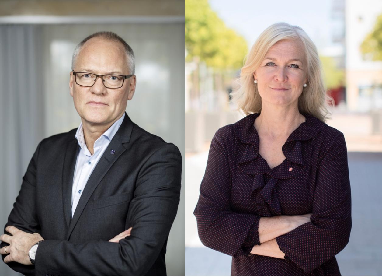 Olov Holst (M) och Marie Axelsson (S)